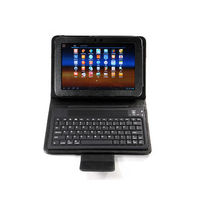 Bluetooth Keyboard with Folding PU Leather Case
