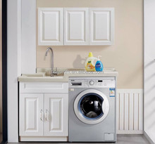 China F-212 Washing Machine Cabinet 304 SS Laundry Balcony Cabinet Metal Vanity