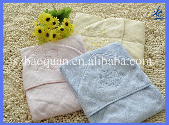 100% bamboo baby towel with hood/hooded bamboo baby towel