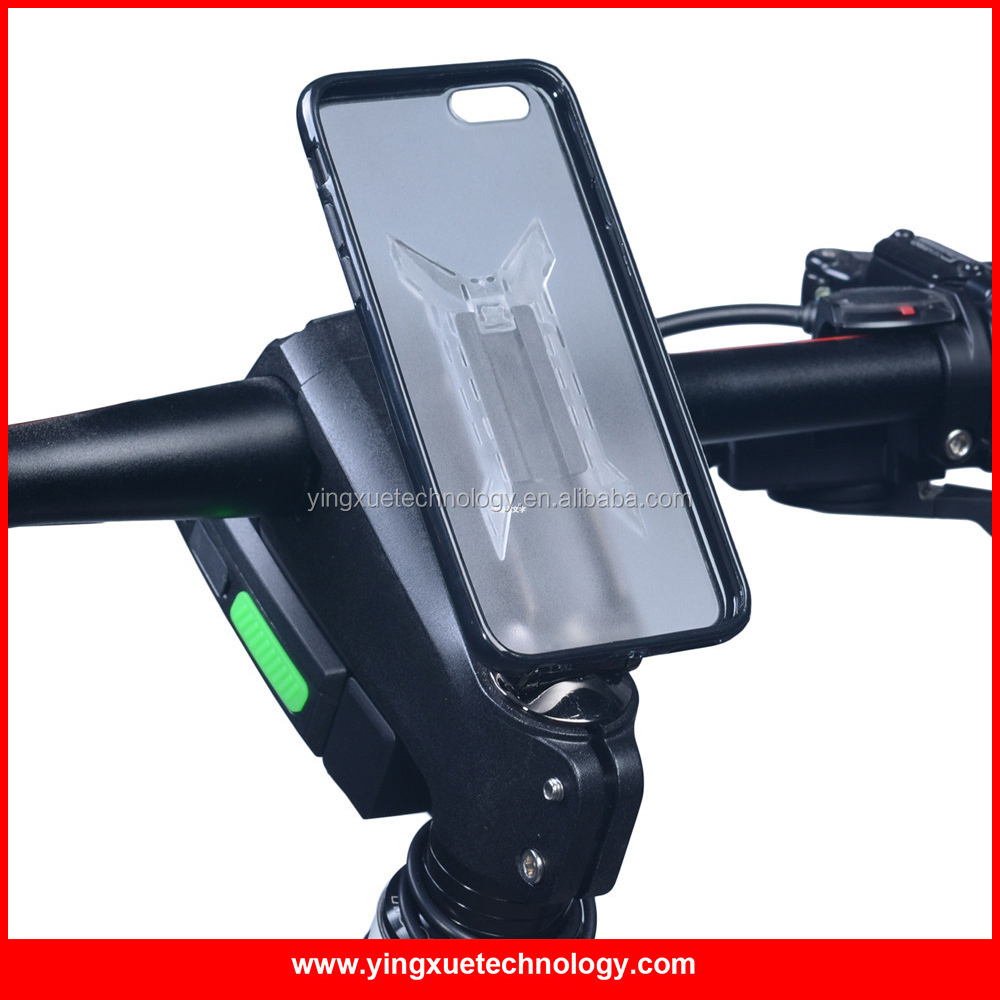 Stem Cap Bike Mount phone Holder Bicycle Grip Clip Aluminum Alloy with 3M tape Clip Fit TPU PC Case for Smart Phones