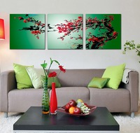 Home Interior Decorating Group Plum Blossom Canvas Fabric Designs Flower Painting Wall Pictures for Living Room