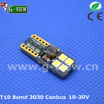 New design Car lamp led t10 canbus,8smd 3030 canbus led ,w5w auto led With Good Service