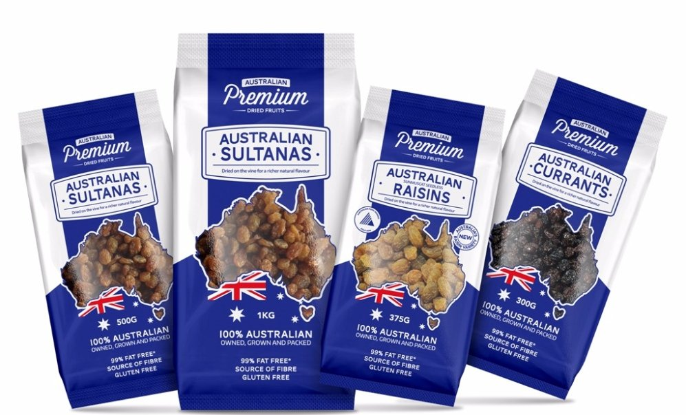 Australian Dried Fruit Range
