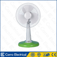 "Foshan factory Bangladesh market 12"" 14"" 16"" electric rechargeable bldc desk fan propello desk fan"