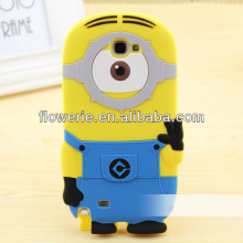 FL3313 2014 China manufacturer cute cartoon minion case for samsung galaxy note 2 n7100