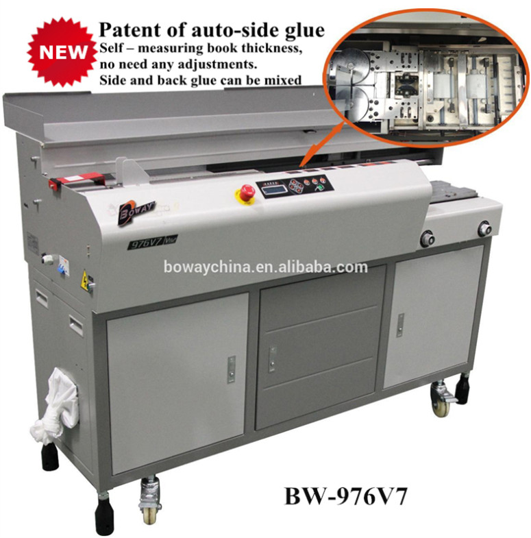 BOWAY manufacturer CE ISO A3 A4 600 pages/book auto side glue binders