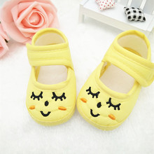 ZH1157F 2017 Pretty Newborn Boys Girls Shoes Soft Bottom Flats Baby Shoes Style Cotton Footwear