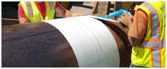 15mil thickness PE insulation tape for gas pipeline