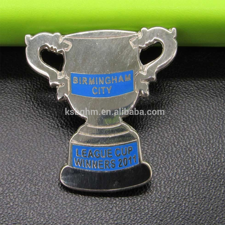 High quality imitation hard enamel with cut out Trophy shape badge/cup shape badge/metal sports trading pin