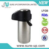 Double wall stainless steel thermos bottle with steel cap (ASUP)