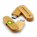 Eco-friendly Swivel Wood Bamboo USB Flash Drive With Custom Logo As Gifts For Office School Wedding