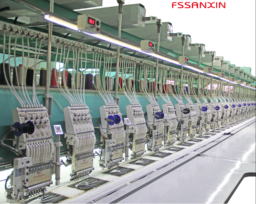 FSSANXIN embroidery machine with dahao control system quality compare with Japan embroidery machine