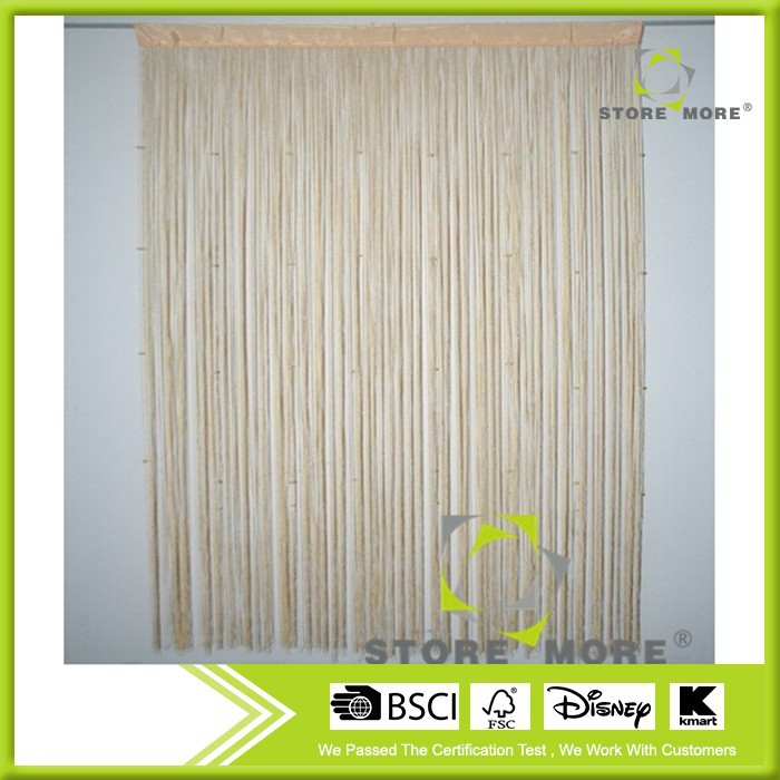 Yellow decorative string window curtains for sliding window