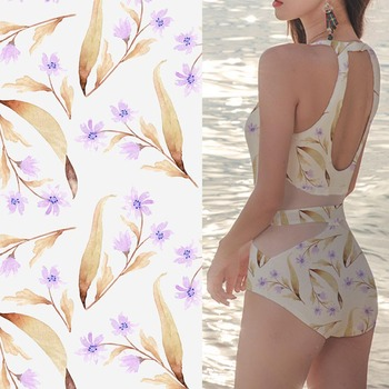 Quick dry swim knit printing polyester stretch swimwear fabric