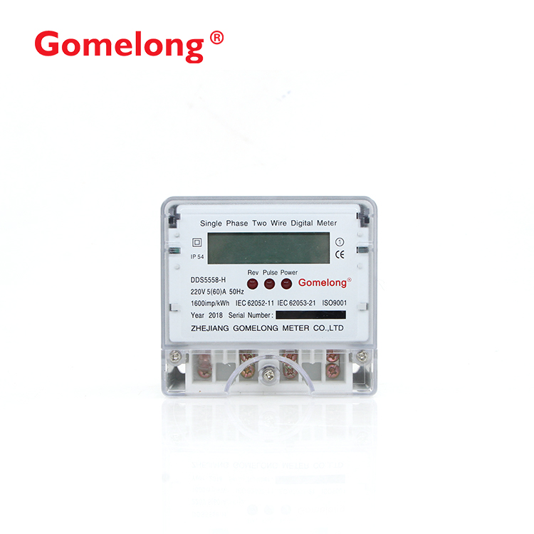 2018 Hot Sale Single Phase Two Wire Lcd Display Kwh <strong>Meter</strong> With Full PC Material