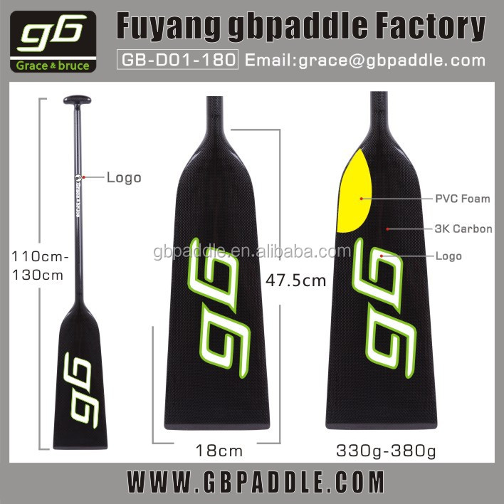 one piece full carbon dragon boat paddle with IDBF