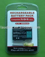 2000mAH rechargeable Battery pack for Nintendo DS Lite