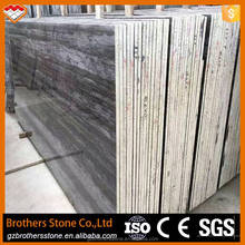 Construction Material China Blue Wooden Grain Marble Blue and Grey Color Marble Travertine