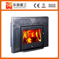 Classic style design large size wood burning stove type fireplace hearth inserts HF577IU3 Black