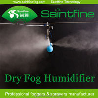 Dry fog water mist cooling system