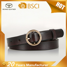 Fashion Casual Jeans Genuine Leather Waist Belt Women's Round Buckles Vintage Style Leather Belt
