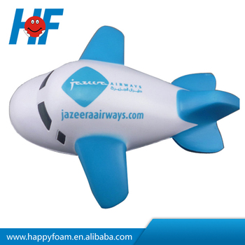 2016 new design promotion pu foam plane stress ball