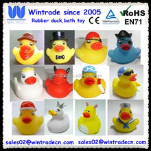 Rubber custom duck/custom shape bath duck pvc toy