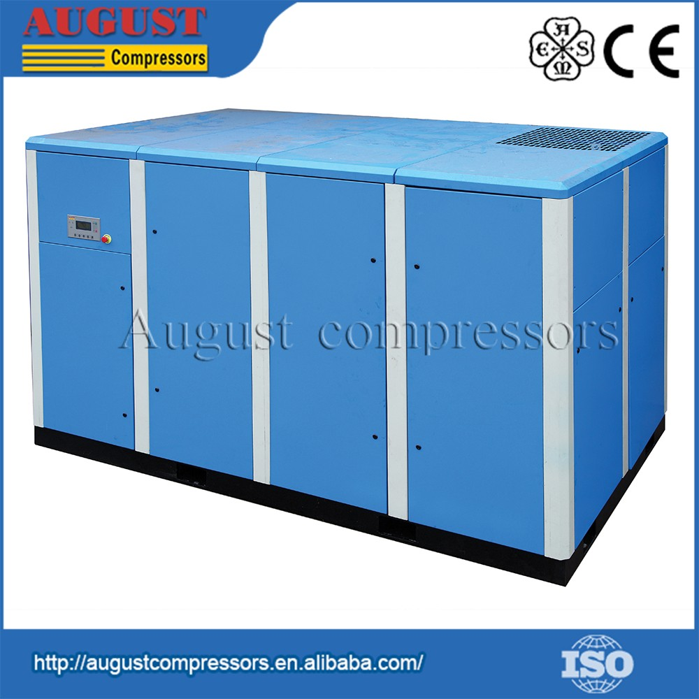 SF220A 220KW/295HP 7 bar 1400cfm AUGUST stationary air cooled screw electric air mining compressor