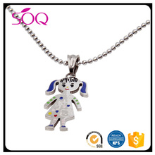 Fashion lovely smile gold plated little cute kids pendant for children