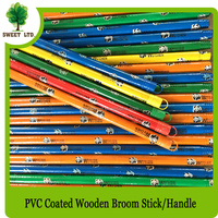 Garden tool good quality wood broom handle with Panda design PVC covered