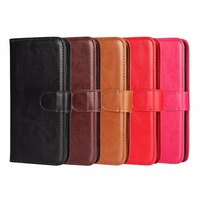 Hot Sell Card Slots Stand Mobile Cell Book PU Leather Pouch Wallet Flip Phone Cover Case For Samsung Galaxy Note 8 J7 Iphone x 8