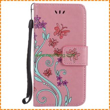 Fashion New Leather Flowers Cover Case For iPhone7, Book Design Wallet Cases For iPhone 7