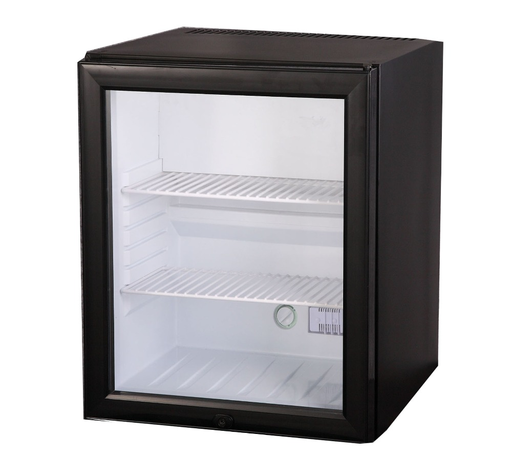 no noise glass door hotel mini fridge with lock - Mini Fridge Glass Door