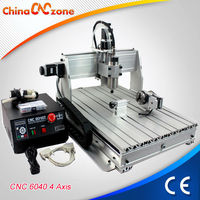 USB interface 6040 4 axis CNC turning wood router machine