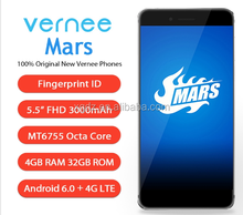 "Vernee Mars 4G Mobile Phone 5.5"" FHD MTK6755 Helio P10 Octa Core Android 6.0 4GB RAM 32GB ROM 13MP CAM Fingerprint Smartphone"