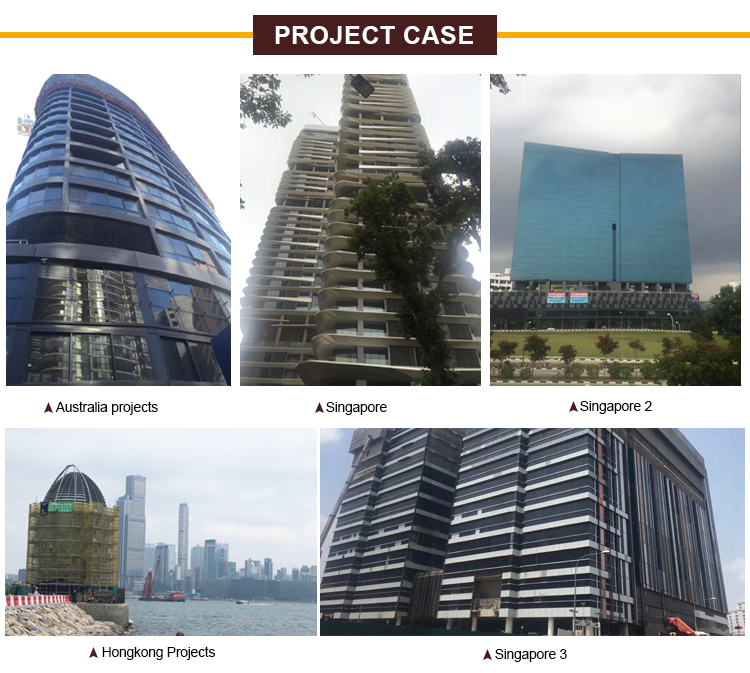 Construction buildings aluminum curtain wall system profile