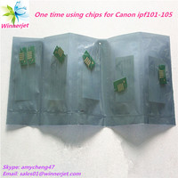 Alibaba China gold supplier disposable chips for Canon FPI 101 ipf 5000 printer