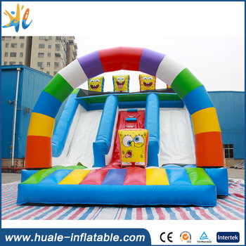 2017 Guangzhou Huale SpongeBob inflatable model inflatable slide for kids / Guangzhou Huale inflatable
