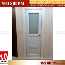 No Moq Wholesale Tempered Glass Design White Upvc Double Glass Used Commercial Glass Entry Doors