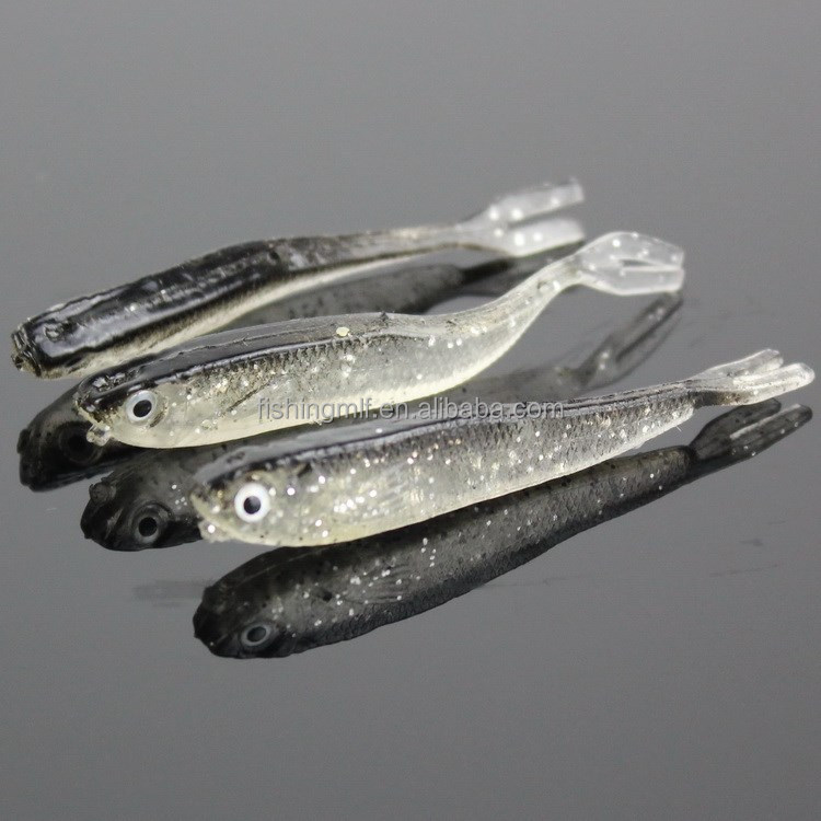 2015 new YZM004 7cm 2.3g little fish type soft fishing lures