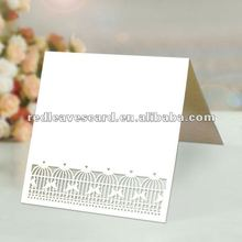 New Arrival: Red Leaves Laser Cut Bird Cage Place Table Card HG1203-02
