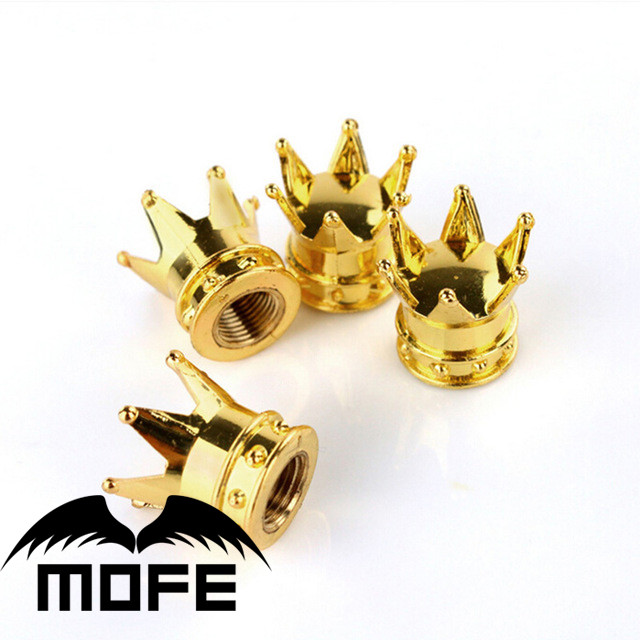 MOFE Racing Gold Crown 4pcs Car Motorcycle Air Dust Cover