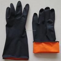 Industry Chemical Resistance Black Latex Gloves
