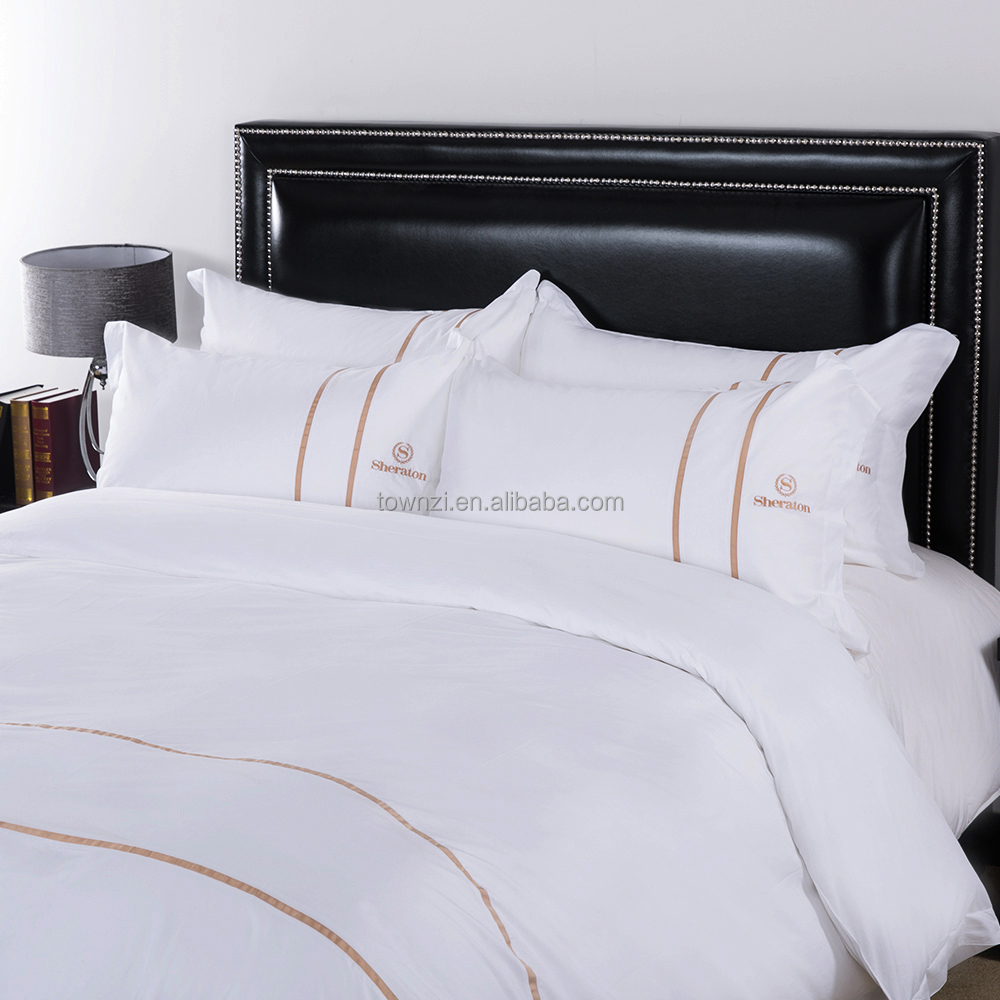 Wholesale Guangzhou Hotel Supplier 100% Cotton Luxury Jacquard Embroidery Fabric Satin Silk 3d Bed Sheets Bedding Sets Hot Sale