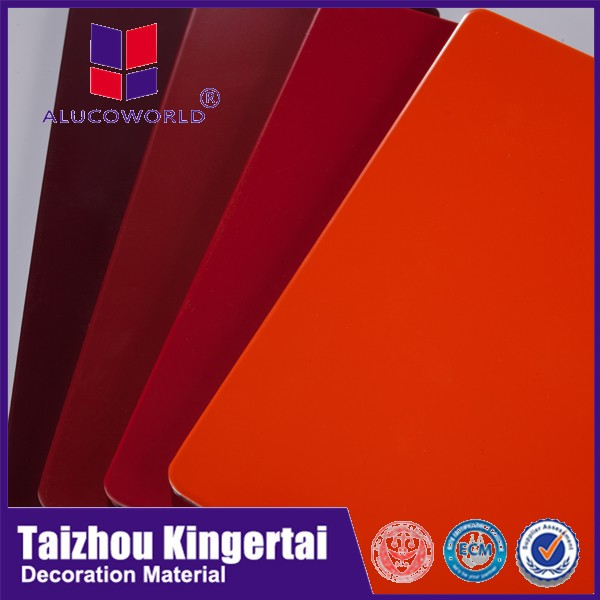 Alucoworld anodized surface treatment ACP aluminum cladding sheets prices