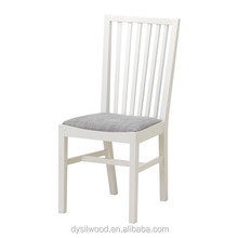 Modern design cheap high back wooden dining chair with seat cushion