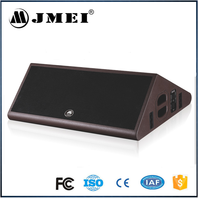 2017 new design 15mm plywood popular double 8 inch professional stage monitor speaker SM-802 made in China