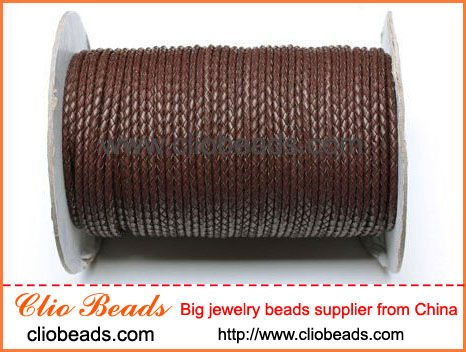 Fashion Coffee Woven Leather Cord