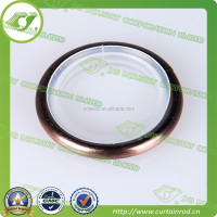 polished chrome roller shower curtain rings