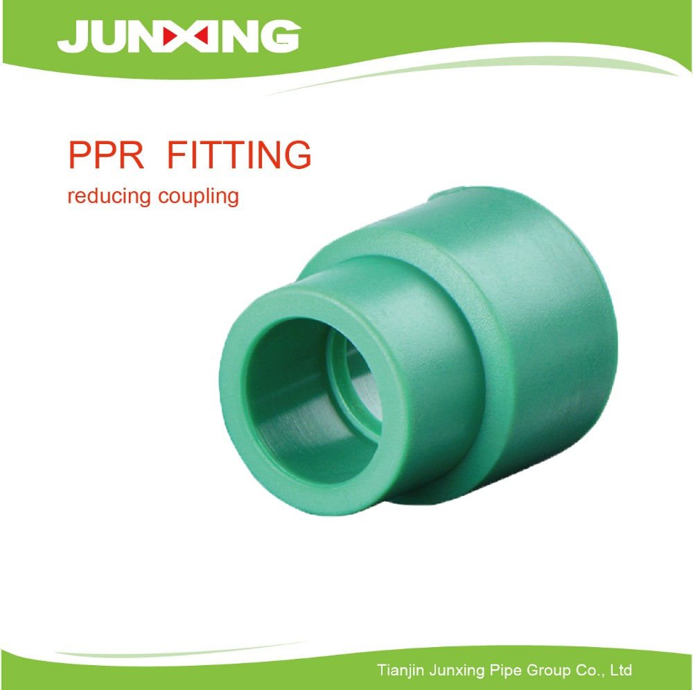 Polypropylene plastic reducing coupler fittings ppr